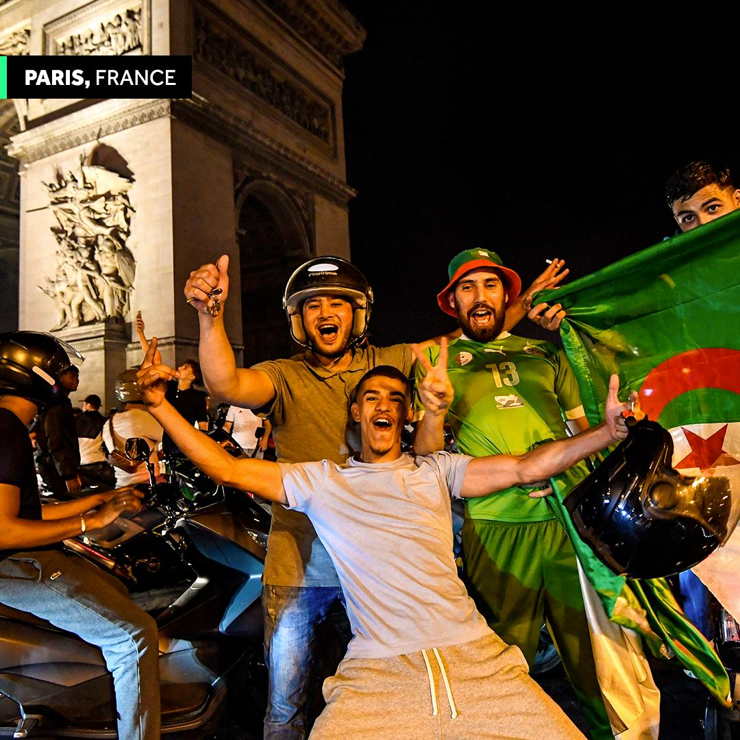 Algeria's #AFCON2019  triumph celebrated throughout France  <br>http://pic.twitter.com/0HURYfo0rn