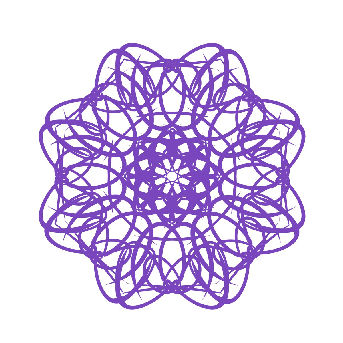 Ok, I made these doilies using the name Braig. They're cool, right? 😆 #doilies #PaintToolSAI #Braig