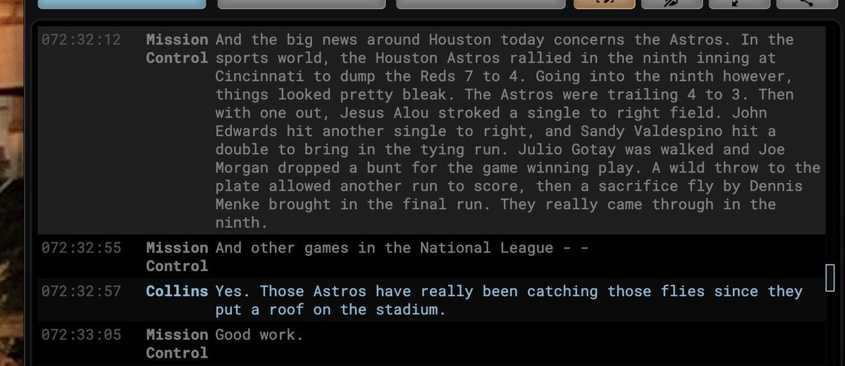 OTD in 1969, just one day from landing on the moon, the Apollo 11 crew was just a little more worried about MLB scores.https://atmlb.com/2Z0BB0E (h/t @sean_forman)