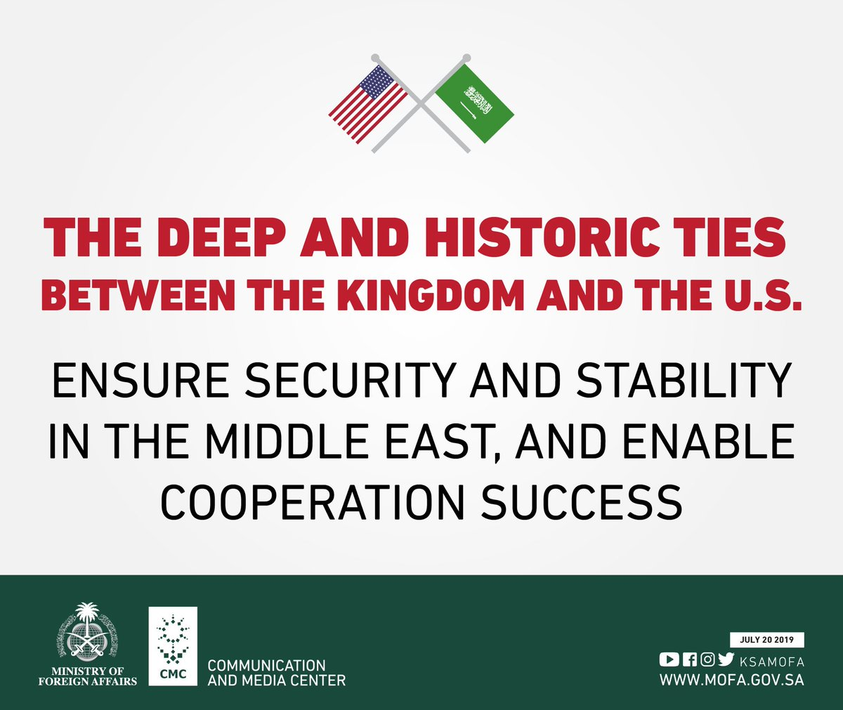 #KSA and #USA .. Historical relationships & joint efforts  <br>http://pic.twitter.com/GcMa9wvrqM