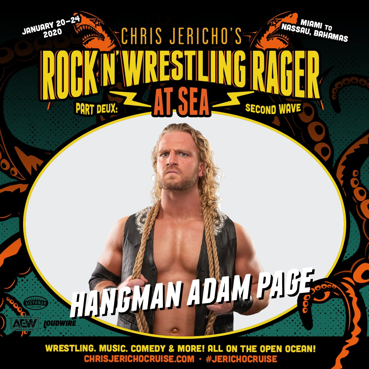 💥We've got @theAdamPage @MattJackson13 @NickJacksonYB and @RealBrittBaker on board The Ship of Jericho!! Book today to sail away with this @AEWrestling talent! http://www.chrisjerichocruise.com #jerichocruise