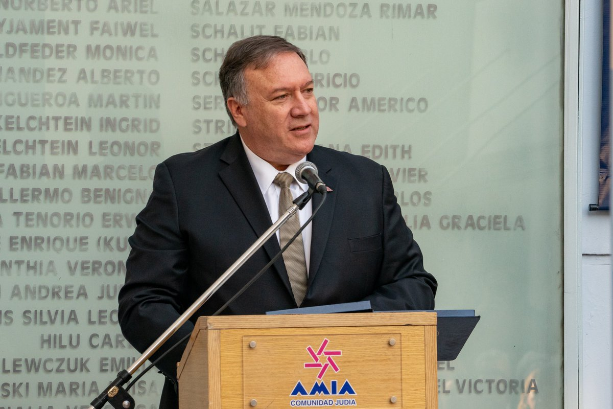 Today, @SecPompeo delivered remarks at the Counterterrorism Ministerial Opening Event in Buenos Aires, #Argentina. Read his remarks here.  https:// go.usa.gov/xyd9T    <br>http://pic.twitter.com/i48K69QzZW