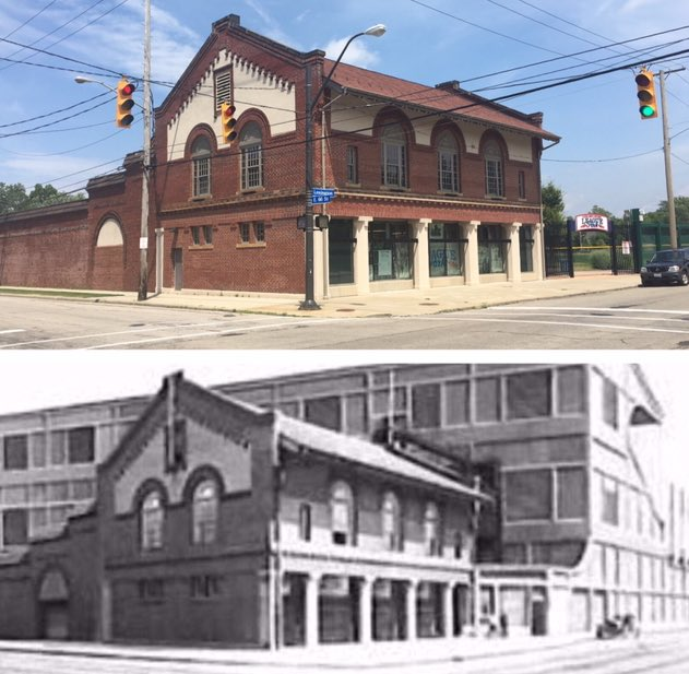 League Park then and now.<br>http://pic.twitter.com/9wD1W5okrY