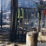 Image for the Tweet beginning: Incendio a Scordia, distrutto un