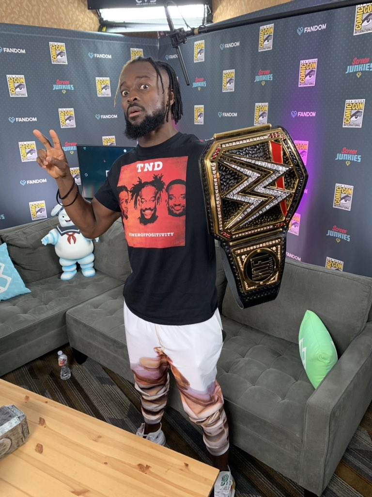 THE CHAMP IS HERE, @TrueKofi coming soon to #SJU