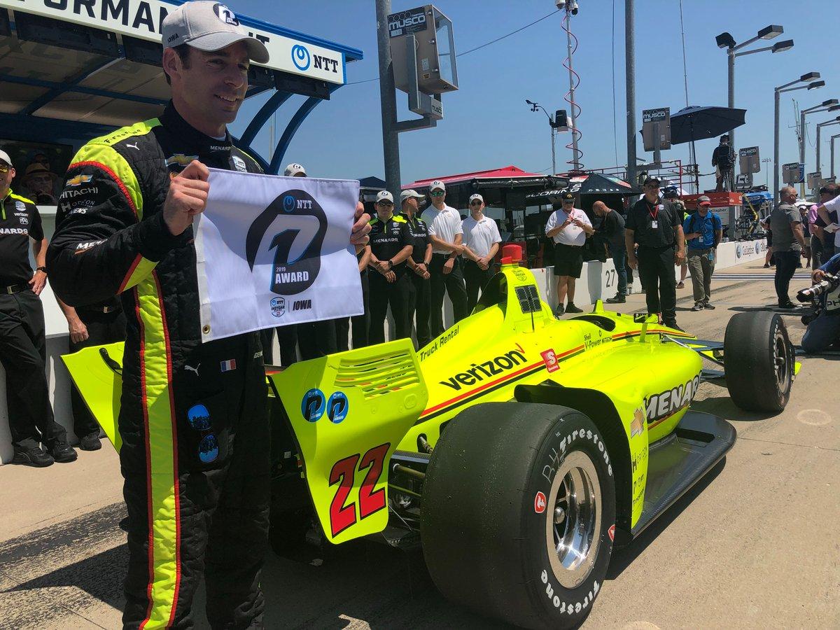 Its P1 for Pagenaud yet again! @simonpagenaud // @Team_Penske // @IndyCar // @iowaspeedway