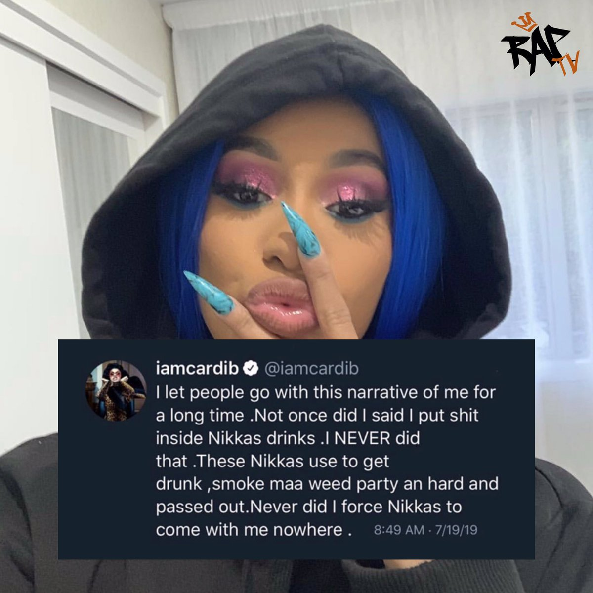 #CardiB has had enough and sends a message  <br>http://pic.twitter.com/bD5WHJWqtD