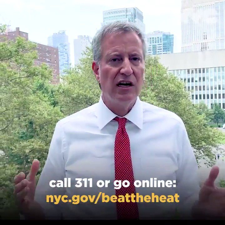 Image for the Tweet beginning: New York City, the HEATWAVE
