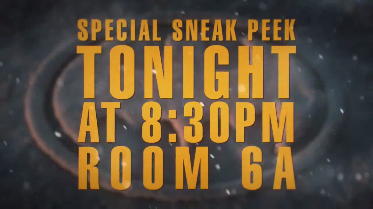 Tonight. 8:30pm. Room 6A. @screenjunkies and @getFandom return to #SDCC