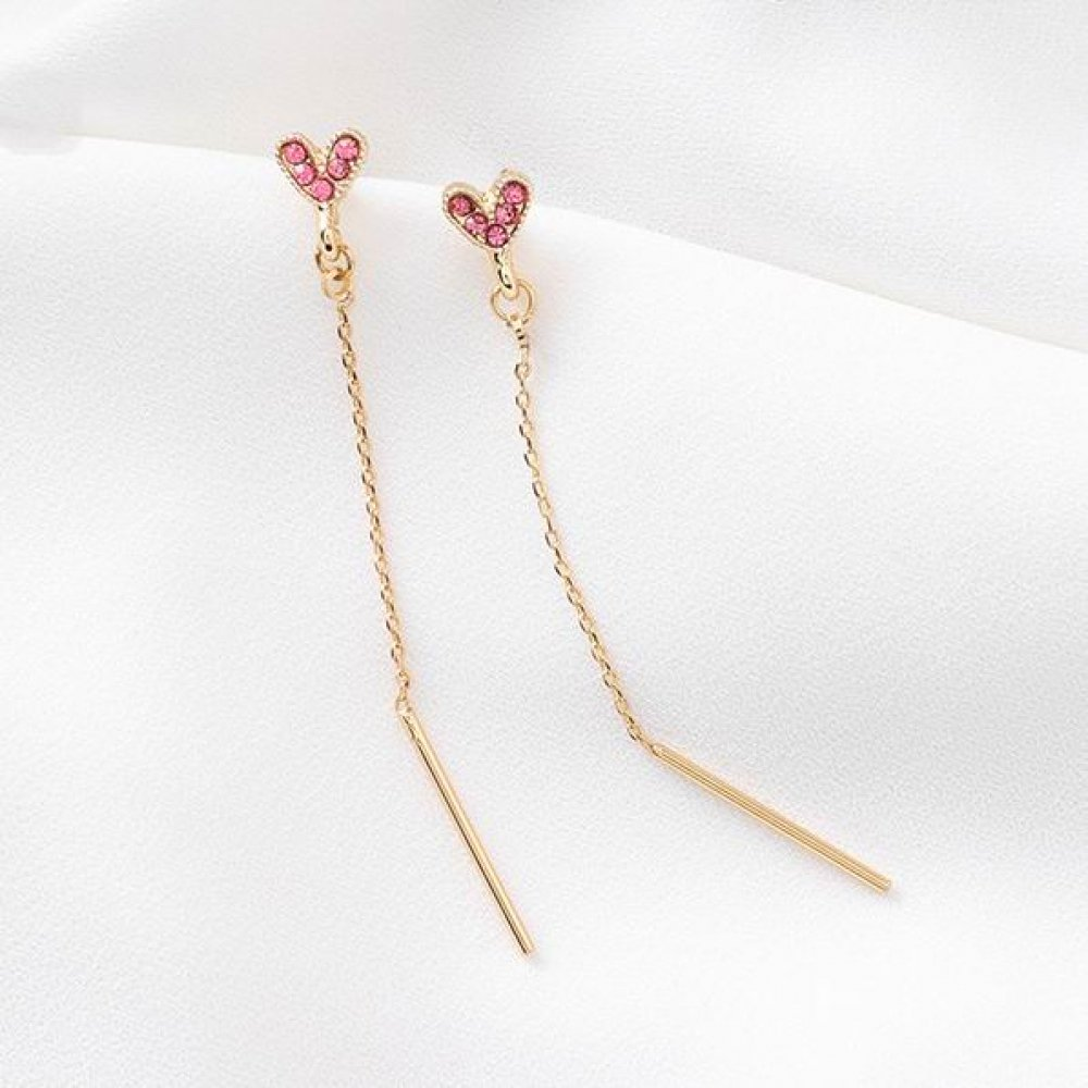 #fashion Simplistic And Stylish Long Heart Earrings