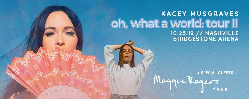NASHVILLE  with special guests: @maggierogers + @iamyola This show will be the very last of the OWAWT/Golden Hour chapter  We're going out with a fucking bang.  http:// bit.ly/OWAWIINASH    <br>http://pic.twitter.com/BKli5cRZI5