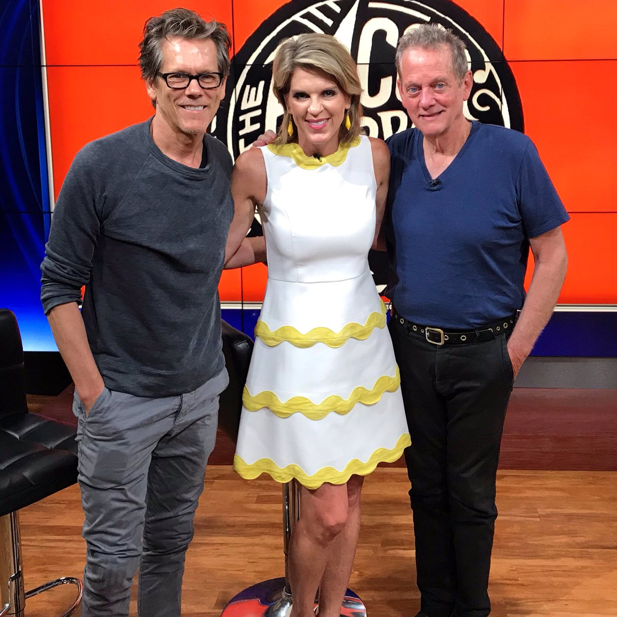 👀 who stopped by #gooddaydc before they hit the stage this weekend @thebirchmere thx @baconbrothers y'all rock! 🎶🎸 oh and check out @kevinbacon in his new @Showtime series #cityonahill