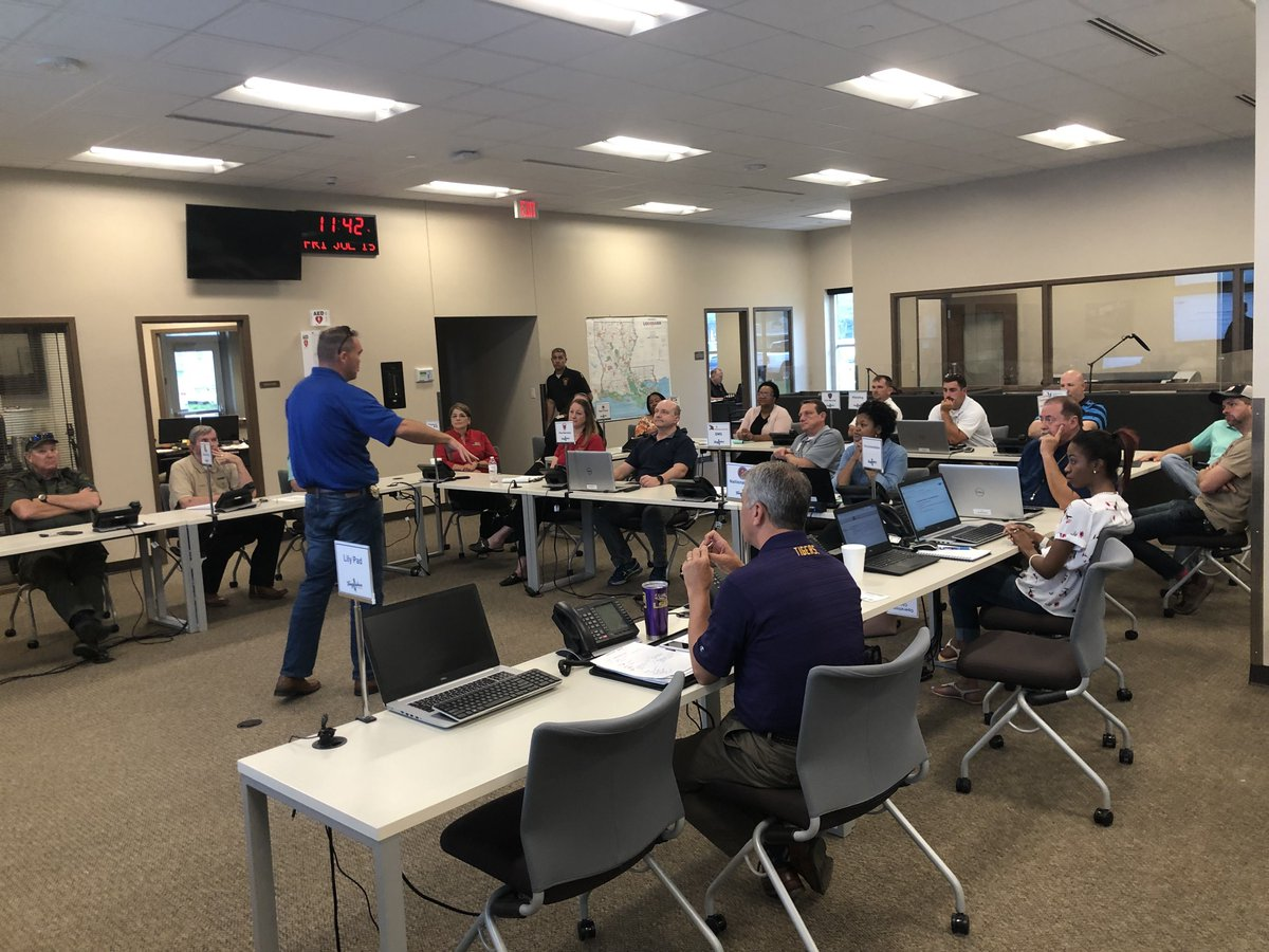 #TeamTangi officials and personnel that were present at the Emergency Operations Center last week during Hurricane Barry met to debrief, record improvements, and make plans for future emergencies!  #tangiparish #hurricanebarry #emergencyready #haveagameplan  #amitelouisiana pic.twitter.com/KvaXj2fslv