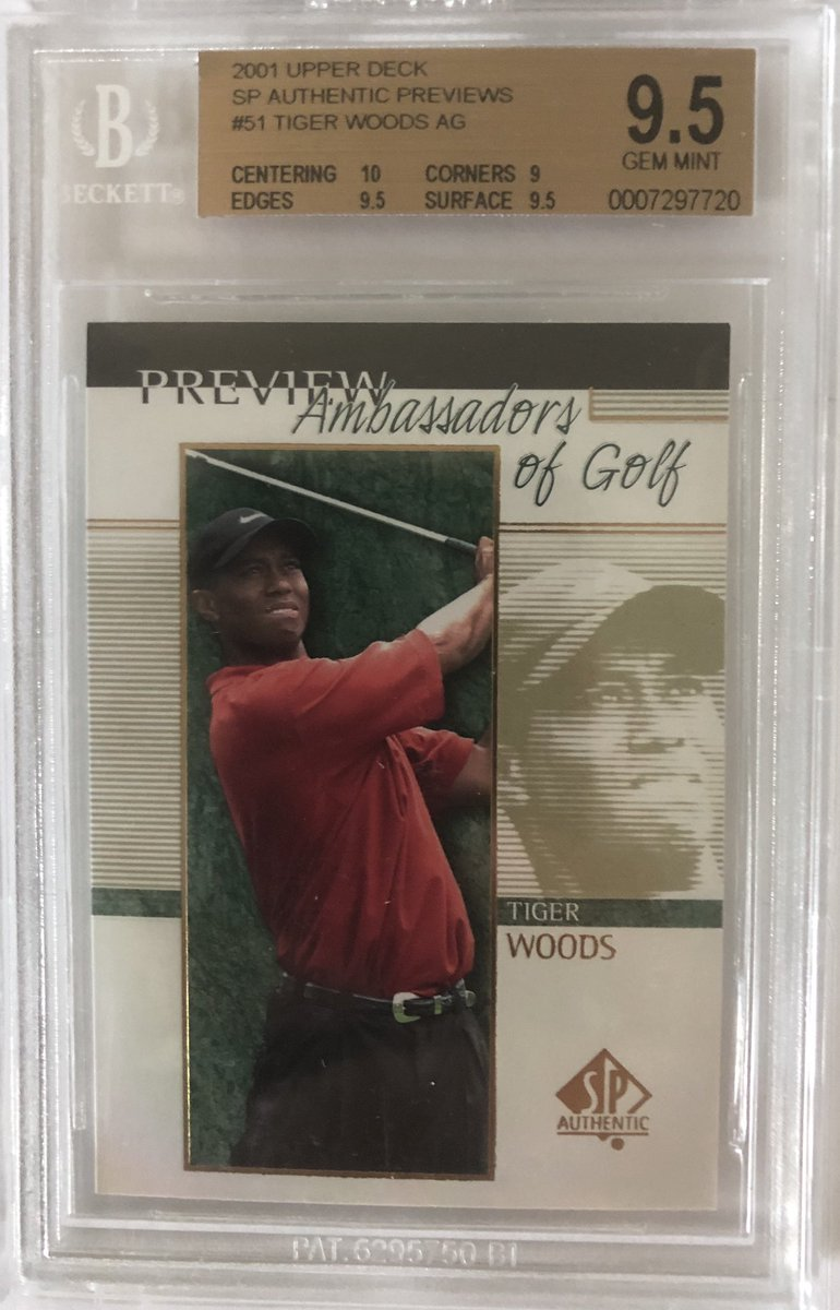 Tiger woods 2001 BGS 9.5 -$85 shipped; Montero green auto chrome /99 -$65 shipped; Trey Mancini 1/1 game used -$125; Andrew Benetendi topps now /25 patch -$95 shipped; all prices are best offers <br>http://pic.twitter.com/9YLFfxOnY3