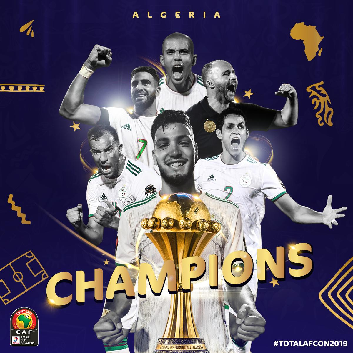 We present you the #TotalAFCON2019 champions: @LesVerts 🏆