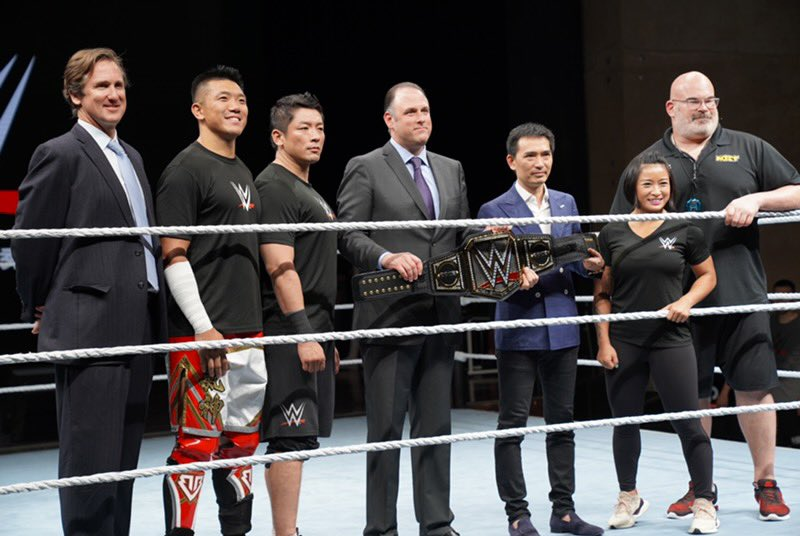 A great few days in #WWEShanghai for the latest international @WWE tryout. An all-around team effort led by our @WWEPC staff, coaches and two original Chinese standouts and @WWENXT Superstars Big Boa and @XiaWWE. #FullCircle