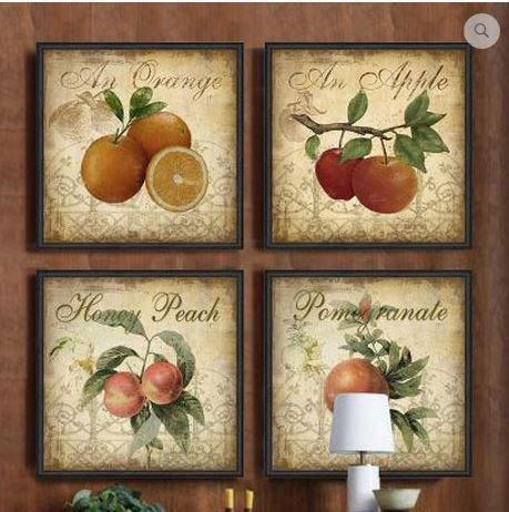 Decorate your kitchen with this delicious looking fruit wall art  #kitchen #jams #jelly #wall #art #food #fruit