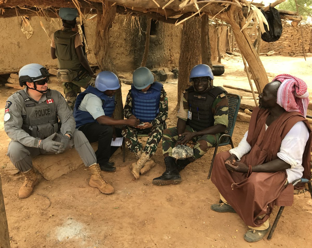 In #Mali, community-based policing in the regions builds trust, respect and partnerships between Malian Security Forces and the communities they serve. Proud to have exceptional 🇨🇦 police officers in the regions now. #MINUSMA
