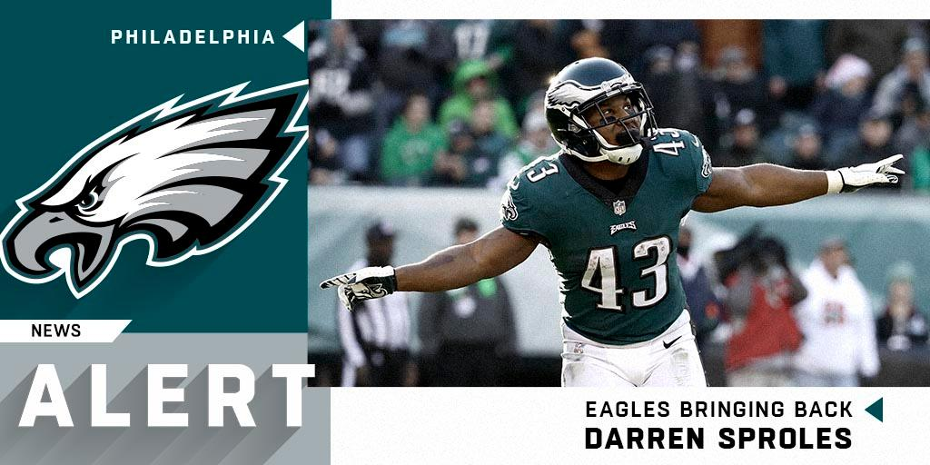 RT @NFL: He's baaaaack.  The @Eagles have agreed to terms on a one-year deal with @DarrenSproles. https://t.co/ZEEJMsC3sZ