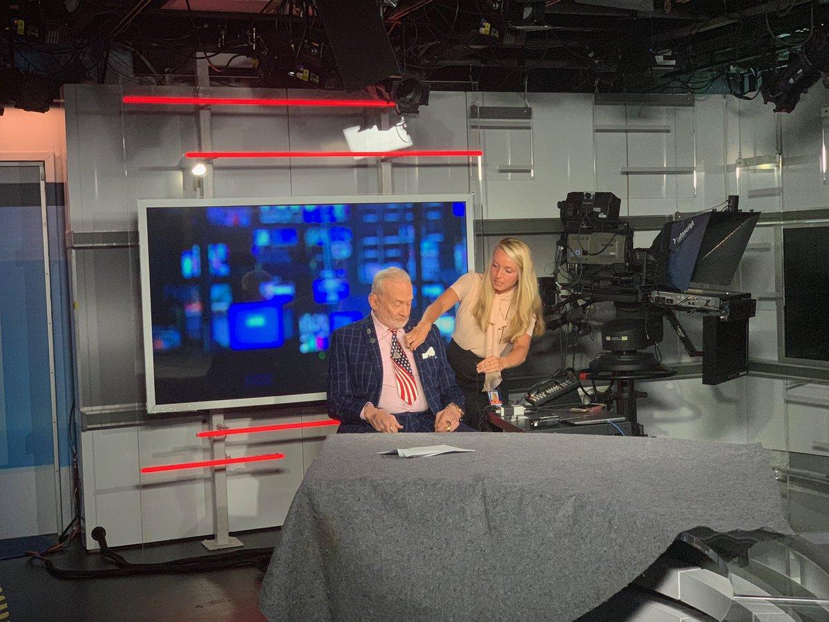 Fox Studio - ready for @marthamaccallum interview.Sound check! #ApolloXI #roadtoapollo50th<br>http://pic.twitter.com/IewJxgr8gT