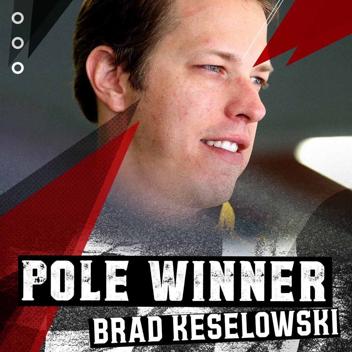 Brad @keselowski wins the pole for Sunday's @NASCAR Cup Series race at @NHMS!  @Team_Penske