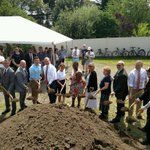 Image for the Tweet beginning: Groundbreaking for the Cochituate Rail