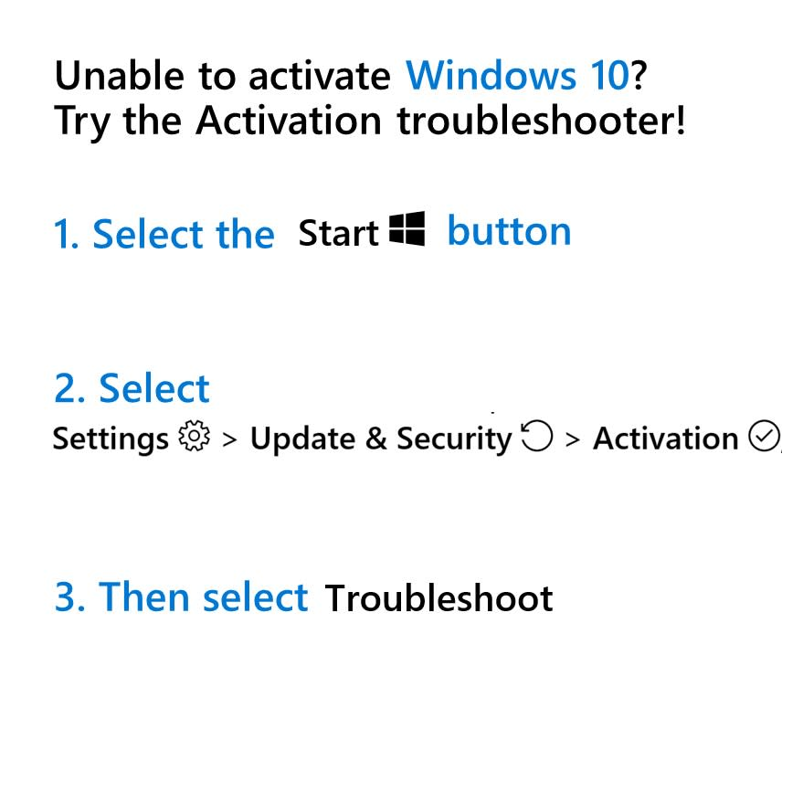 Are you having a hard time activating Windows? Use our troubleshooter, and we'll find out what's going on.Don't know how?Here's our guide: http://msft.social/eRJW02