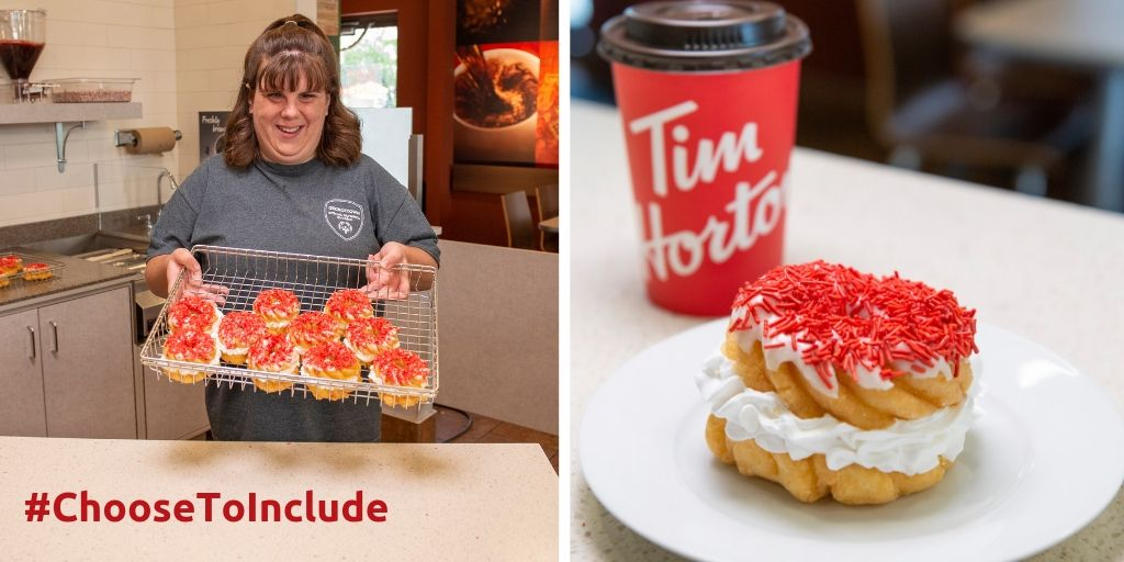 TODAY IS THE DAY! Get your Special Olympics Donut at @TimHortons across Canada because inclusion goes great with your morning coffee! Don't forget to post a picture with #ChooseToInclude and tag us!