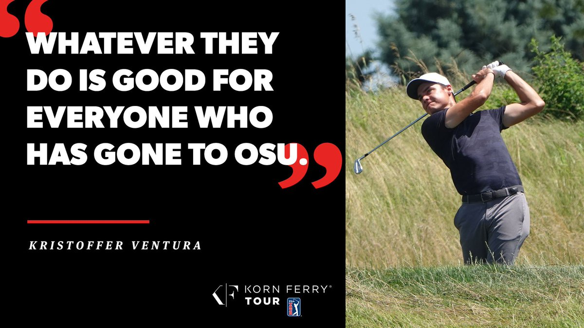 His @OSUCowboyGolf teammates @Matthew_Wolff5 and Viktor Hovland have found early professional success.  @KrisVentura95 isn't too far off.  He leads @PinnBankGolf at 11-under and could secure a @PGATOUR card this weekend. https://t.co/Etvtvw3r3k