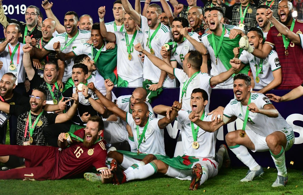 Algeria, #AFCON19 winners!  And they won it in freakish circumstances...  Report:  https:// bbc.in/2xRJN7o     <br>http://pic.twitter.com/yLF7pLoD63