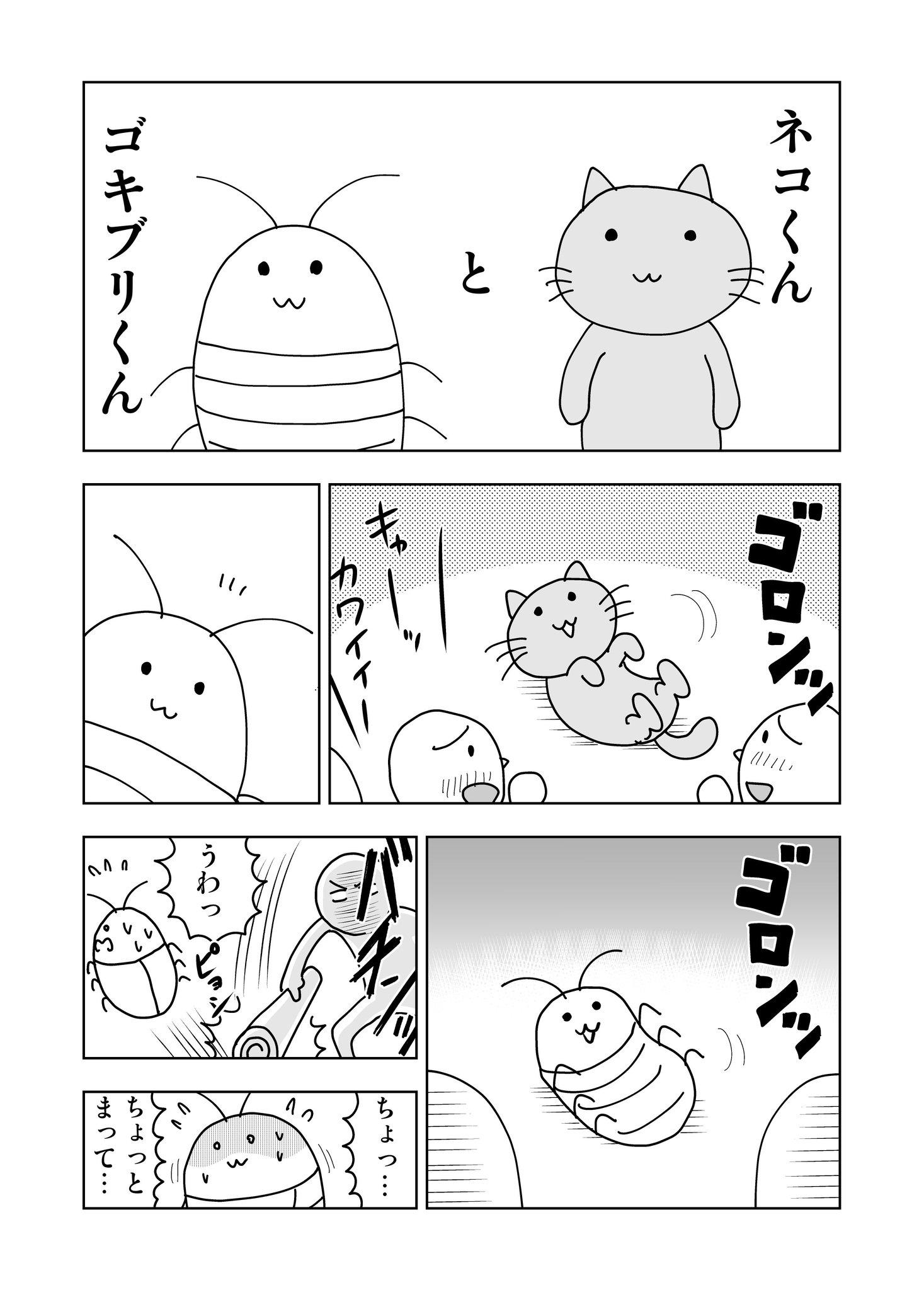 「ネコくんとゴキブリくん」