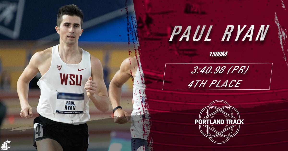Paul Ryan records a 3:40.98 (PR) in the 1500m to place 4th overall at the Stumptown Twilight!  #GoCougs