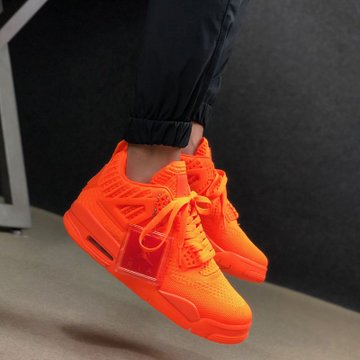 air jordan 4 retro flyknit total orange