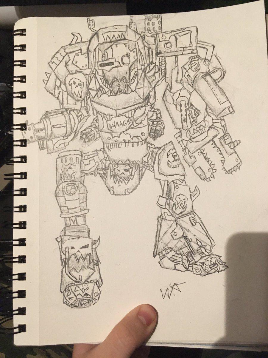 I have drawn a mega Gargant #warhammer40k #Orks