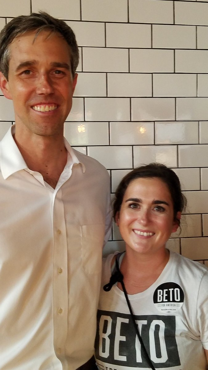 I drove 4.5 hours to hear @BetoORourke. I was fortunate enough to ask him a question regarding the maternal and infant mortality crisis in America. I will never forget this night. #beto2020<br>http://pic.twitter.com/fFTPoP0hDj