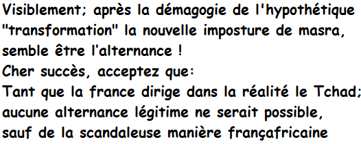 #Adjib #Ndjamena #Tchad #Afrique #Francafrique #UnionAfricaine @DrJPPham #OIF @AUC_MoussaFaki #Rfiafrique #CFA #GiletsJaunes @zarayacoub @dw_francais @dw_francais @JY_LeDrian #AFP @StateDept @Survie #TRANSFORMATEURS @CPAfrique #Elysee @DrIdrissSaleh @nialbe #Khabar @IdrissDebyI