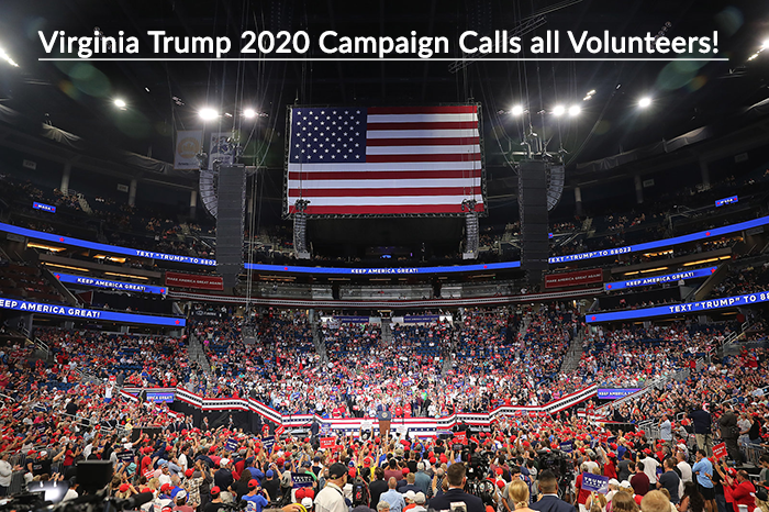 VA Trump 2020 campaign calls all volunteers for Trump National Training week! Together, we can win the Commonwealth's 13 Electoral votes for President Trump in 2020! Link to learn more! #MAGA @realDonaldTrump - mailchi.mp/jfradioshow.co…
