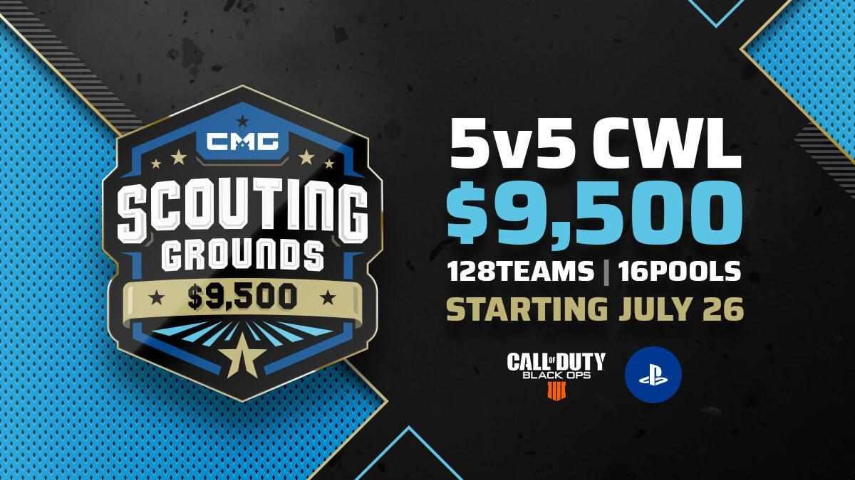 $9,500 5v5 Scouting Grounds League  ✅ 3 week duration ✅ 1 kickoff qualifier tournament ✅ 128 qualifying teams - 16 pools - 8 teams per pool ✅ The Top 2 teams from each pool advances to the Grand Finals ✅ No CWL pro players allowed  JOIN  > https://www.checkmategaming.com/invitational/cmg-scouting-grounds-8…