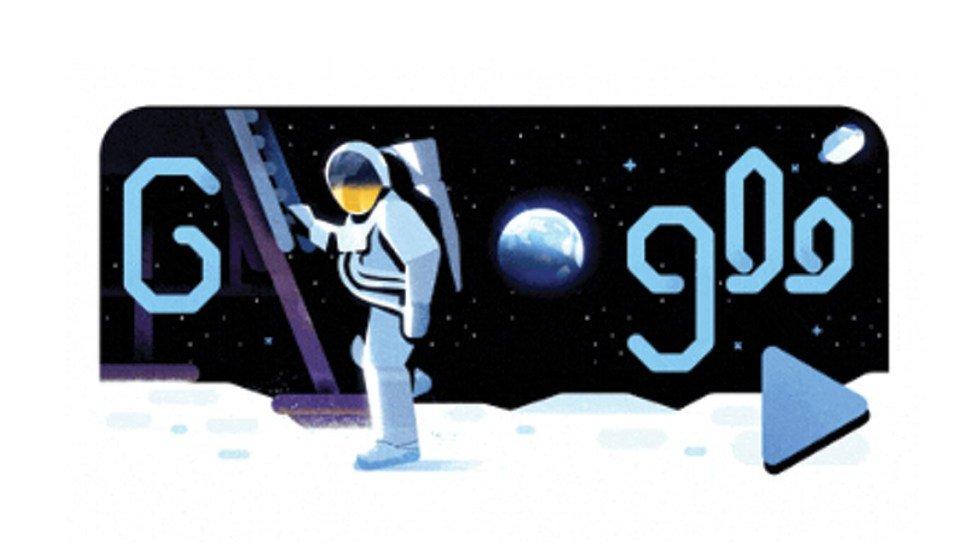 El doodle que conmemora el aniversario 50 del alunizaje(VIDEO) http://bit.ly/2Z2626r