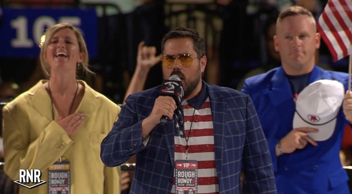 Recent National Anthem Times:  Gladys Knight (Super Bowl LIII), 2:01 P!nk (Super Bowl LII), 1:53 @BarstoolBigCat (Rough N' Rowdy 9), 1:51