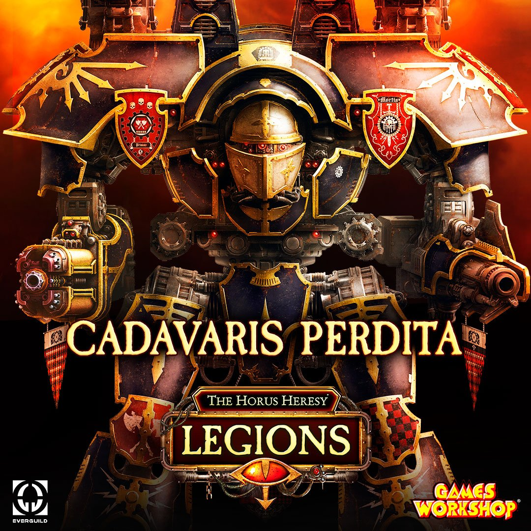 """""""Can't you see? I am in control!"""" – Princeps of Cadavaris Perdita  The Warlord Titan in command of the Legio Mortis detachment fighting in Prospero, Cadavaris Perdita is now available for you to pilot in a time-limited event!  #HorusLegions #HorusHeresy #warhammer40k #wh40k #40K"""