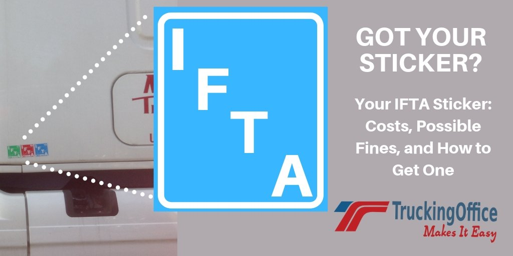 Where Do I Place My #IFTA #Sticker? On your #truck, not the #DOT official.  #trucking #truckers