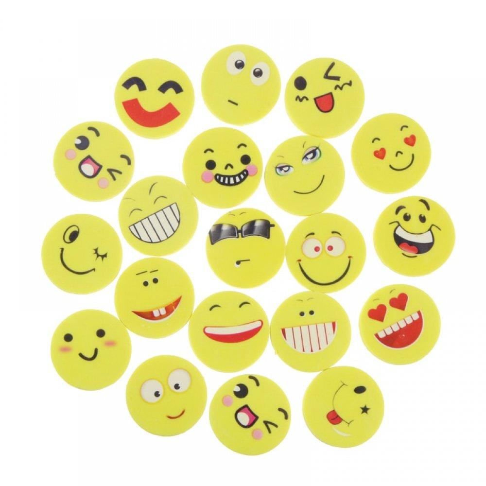#fashion #naruto Round Emoji Style Erasers Set