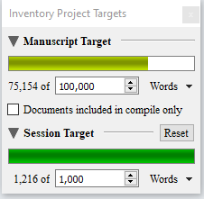 I can't be the only person who gets excited to see that top Target bar turn green, can I? #amwriting #almostthere #WIP #SciFiFri #darkfiction