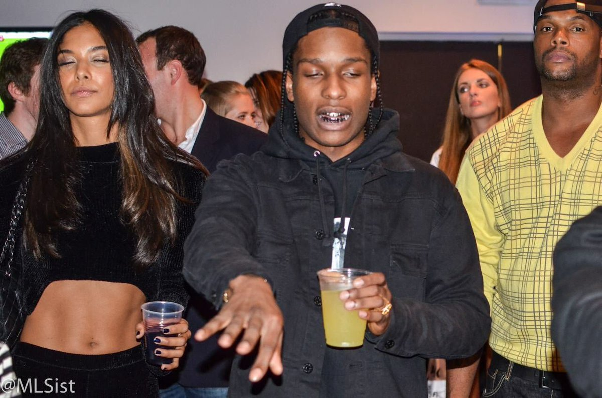 "I took this photo of A$AP Rocky at the FIFA14 launch party, I think. It was an MLS event in NY - after I shot this photo, the bodyguard (big dude in the photo) was like ""NO PHOTOS"" and I was like ""I'm with MLS"" and A$AP Rocky was like ""the f**k is MLS."" True story.<br>http://pic.twitter.com/L4hyXPqUas"