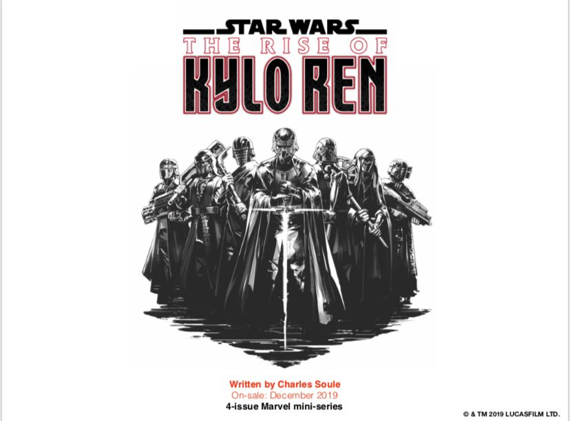 As just announced, I am writing THE RISE OF KYLO REN - a limited series comic launching in December, just before Episode IX.  You know the one story everyone's dying to see, about Kylo and the Knights of Ren? That's this.  You're not ready (hell, I barely am.)