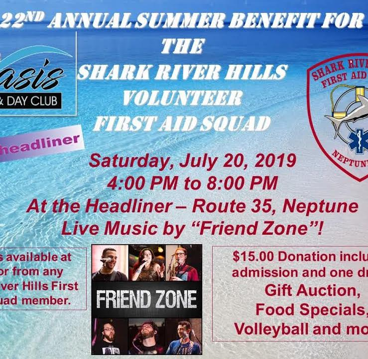 🌊🦈 #Today 4 - 8 pm: #JoinUs in #raising #money for the #SharkRiverHills #Volunteer #FirstAid #Squad. #GiftAuction, #FoodSpecials, #Volleyball and #more! $15.00 #Donation includes #admission + 1 drink. #Tix #available at #door/any #SharkRiverHills #Fi…