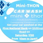 Image for the Tweet beginning: Get your car washed for