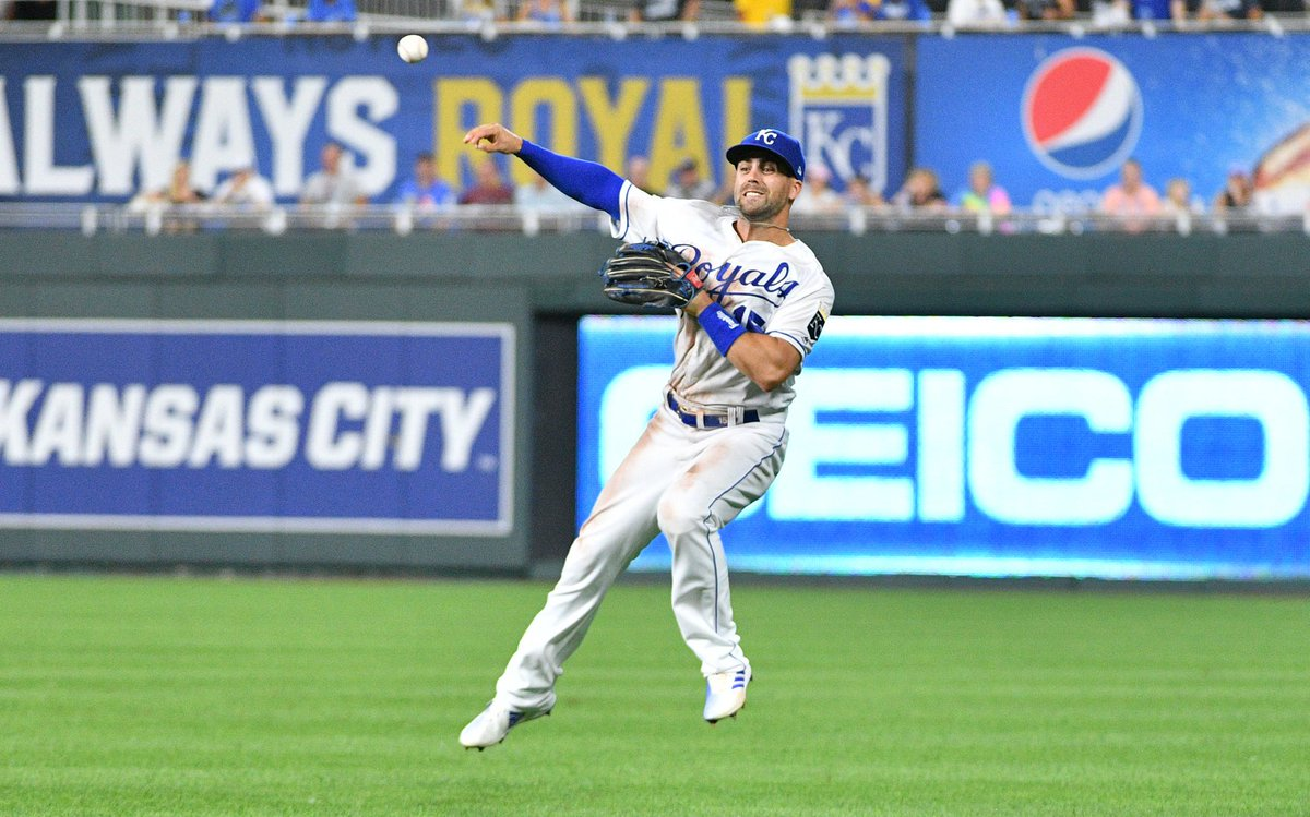 Whit Merrifield just hit a three-run triple and the Indians have a 6-5 lead in the sixth inning. I wrote about Merrifield and why he could be worth the two arms and a leg it would take for the Indians to acquire him bit.ly/30KoGQV
