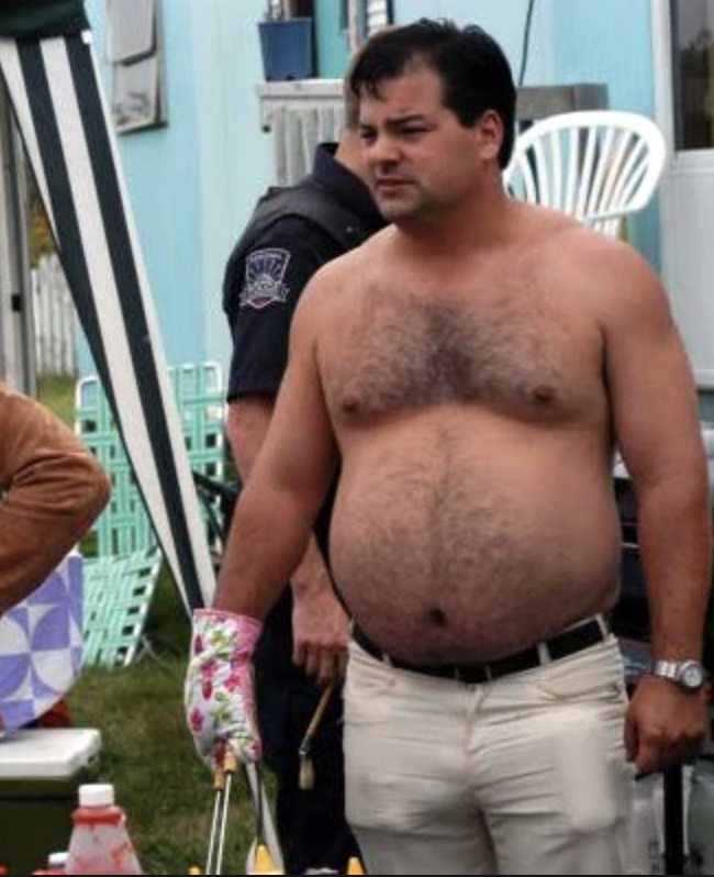 "Fight 13: ""Mr. Talk of the Town"" vs. ""Randy Bobandy""  In the later seasons of Trailer Park Boys, director Mike Clattenburg began having Patrick Roach, who plays Randy, use a ""stunt belly"". He had a prosthetic stomach made so he looked to be larger than he was.  #RnR9 @roughnrowdy"